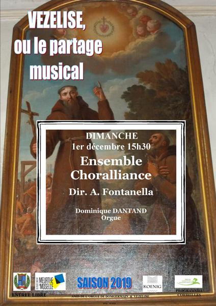Concert Ensemble Choralliance – Les amis de l'orgue de Vézelise