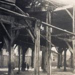 Les Halles de Vézelise après le bombardement de Juin 1940