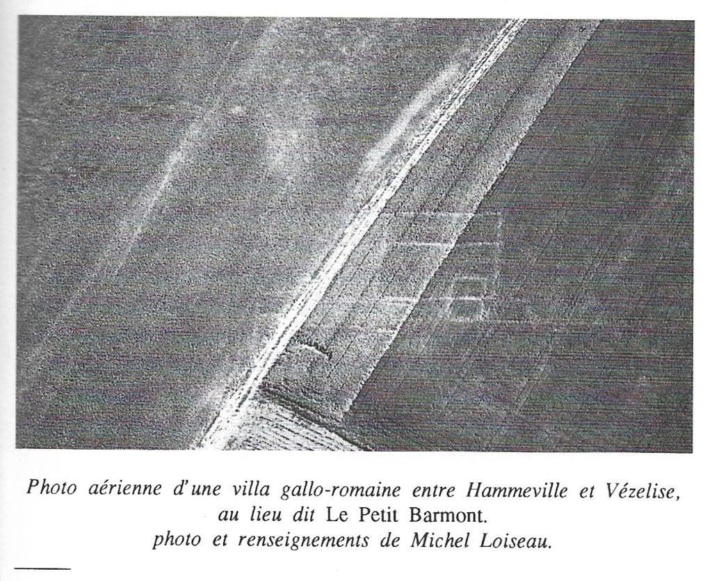 Photo aérienne d'une ville gallo-romaine entre Hammeville et Vézelise