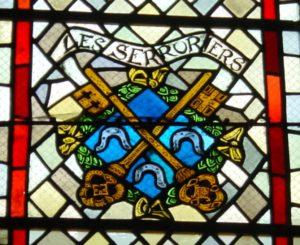 Blason des Serruriers - Vitraux de l'église de Vézelise